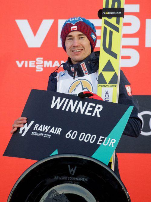 Der Pole Kamil Stoch erlebte ein äußert erfolgreiches Wochenende. gepa