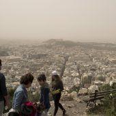 Dichter Sahara-Staub über Griechenland