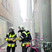 Flammen in Feldkircher Lokal