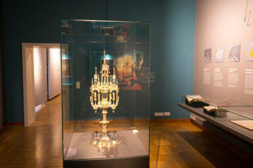Die Monstranz, gestiftet von Hieronymus Münzer, ist das wertvollste Objekt der Schau.