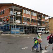 Neue Wohnanlage in Bezau im Bau
