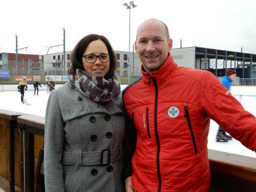 Die Organisatoren Ulli Bachmeier und Martina Brunner würden die Rekordsumme vom letzten Spiel heuer gerne knacken. cth