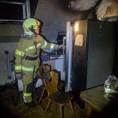 Ein ausgebrannter Kühlschrank