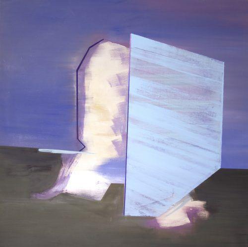 Ein Gemälde von Martin Bischof. Er stellt mit Drago Persic und Sarah Bechter aus.