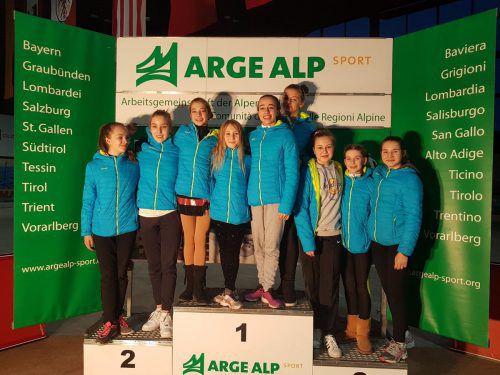 Erfolgreich unterwegs waren die Feldkircher Eisläufer beim Arge Alp Teambewerb in Oberstdorf. Verein