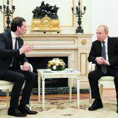 Kanzler Kurz auf Antrittsbesuch im Kreml