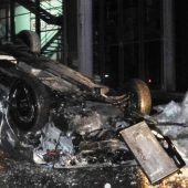 Alkolenker (20) überstand spektakulären Unfall in Lech ohne Verletzungen. B1