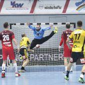 Titelverteidiger Hard mit 24:19-Sieg im 88. Handball-Derby gegen Bregenz. C1