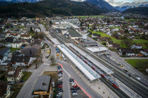 Heute von 17 bis 18.30 Uhr können sich Interessierte über die Pläne für die Vorplatzgestaltung beim Bahnhof Rankweil informieren. VN/Hartinger