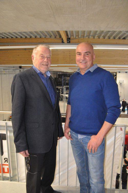 Gastgeber: Senior-Chef Engelbert Forster und Filialleiter Roland Ganahl. CM