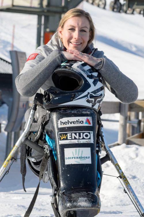 Heike Eder holte sich bei der ÖM den Titel im Torlauf.VN/Stiplovsek