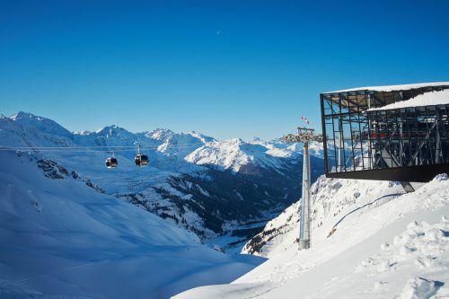In den Vorarlberger Skigbieten (im Bild die Flexenbahn) stieg der Anteil der Betriebstage von 86 Prozent auf 93 Prozent. Doppelmayr