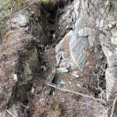 Bedrohung durch Felssturz