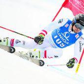 Silber für Johannes Strolz, fünfunter den Top Sieben im Riesentorlauf