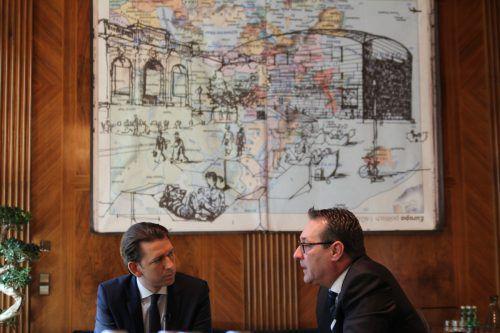 Kommende Woche sind sie 100 Tage Kanzler bzw. Vizekanzler: Sebastian Kurz (l.) und Heinz-Christian Strache.Matthias Rauch