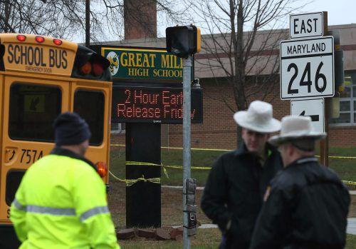 Kurz nach Schulbeginn eröffnete ein Schüler das Feuer in der Ortschaft Great Mills. APA
