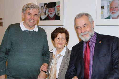 Luggi Knobel (l.) sowie Erika Wanko und Willi Schmidt. VN-TK