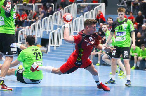 Lukas Herburger glänzte mit insgesamt sieben Treffern und war gegen West Wien der Topscorer.hartinger