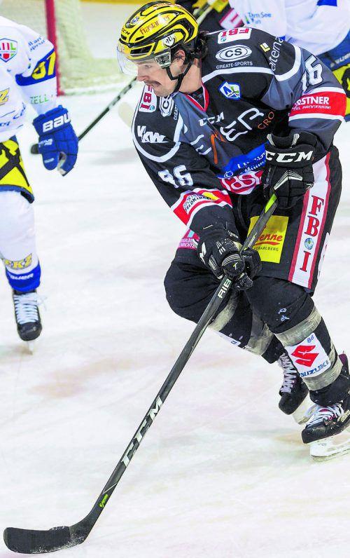 Martin Mairitsch war gegen den HC Pustertal zwei Mal erfolgreich.VN-Stplovsek