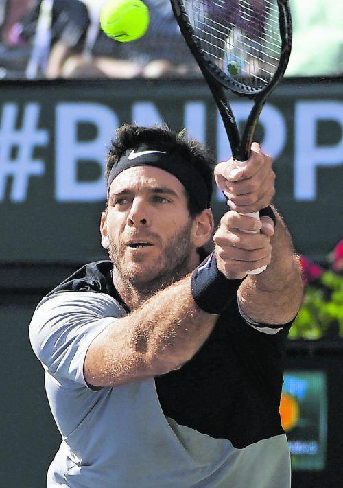 Nach hartem Kampf Roger Federer gebogen: Juan Martin del Potro.ap