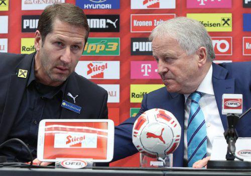 ÖFB-Boss Leo Windtner ist sehr erfreut darüber, wie der neue Teamchef Franco Foda an seine Arbeit mit dem Nationalteam herangeht.gepa