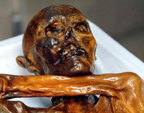 Ötzi wurde im September 1991 im Gletschereis entdeckt. Museum