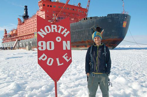 Schaudy dringt mit dem stärksten Eisbrecherder Welt bis zum Nordpol vor. Schaudy