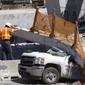 Brückeneinsturz in Florida: Ingenieure unterschätzten Riss