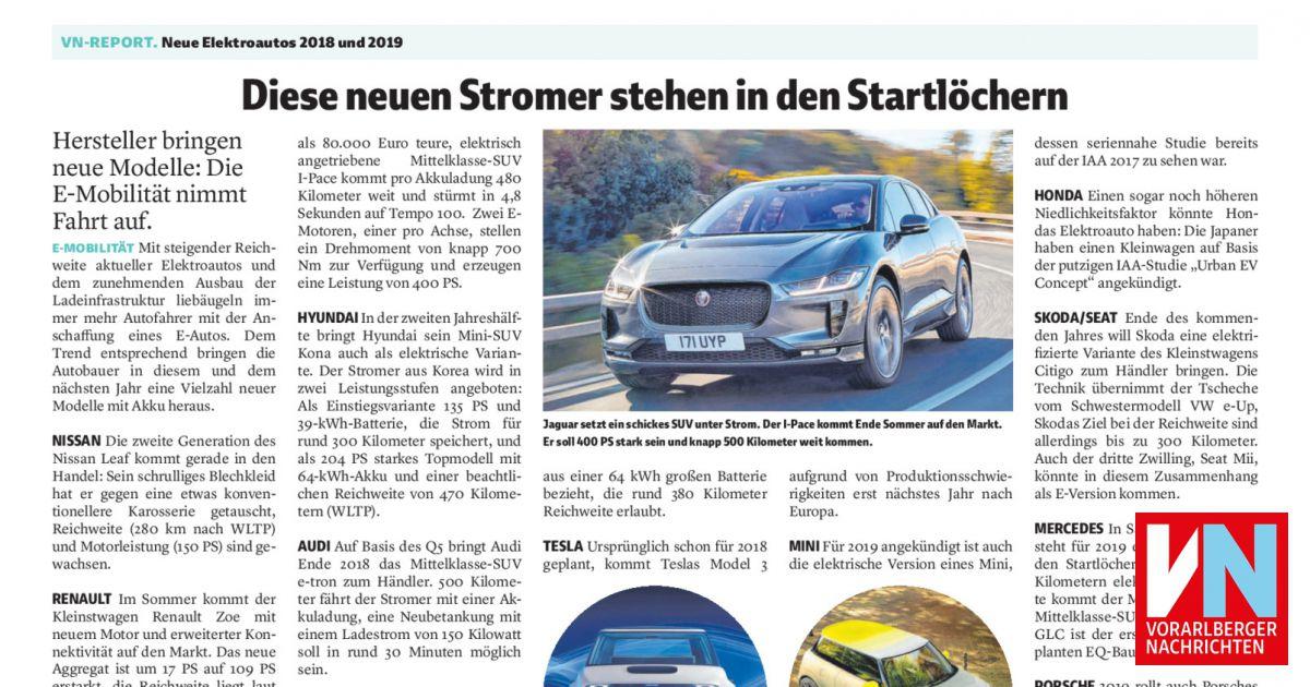 e8711c0f58 Diese neuen Stromer stehen in den Startlöchern - Vorarlberger Nachrichten |  VN.AT