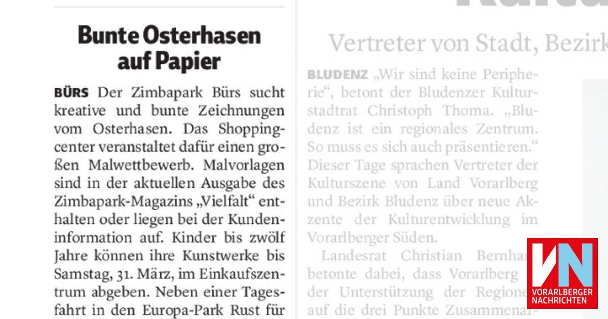Bunte Osterhasen Auf Papier Vorarlberger Nachrichten Vn At