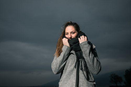Susanna (18) aus Rankweil muss sich warm anziehen.SAMS