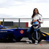 Tatiana Calderontestet für Sauber