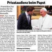 Wie man den Papst hintergeht