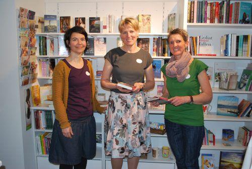 Angelika Hämmerle, Marina Casteleijn, Alexandra Nussbaumer in ihrem Geschäft. erh