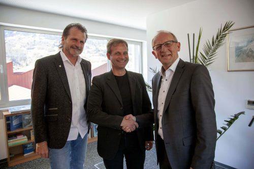 AR-Chef Herbert Bitschnau mit Ekkehard Nachbaur und Bertram Luger (v.l.). Meznar