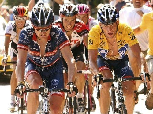 Auf dem Rennrad Seite an Seite, im Gerichtssaal Kontrahenten: die ehemaligen Teamkollegen Floyd Landis und Lance Armstrong.ap