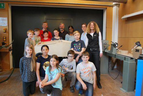 Bei den Schülern der MS Baumgarten laufen die Vorbereitungen für die Teilnahme an der Seifenkistentrophy 1.0 auf Hochtouren. erh