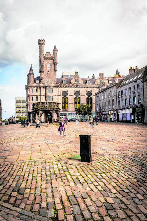 Castlegate, das sich knapp zwei Kilometer von der Innenstadt entfernt befindet, ist das älteste Stadtviertel von Aberdeen.