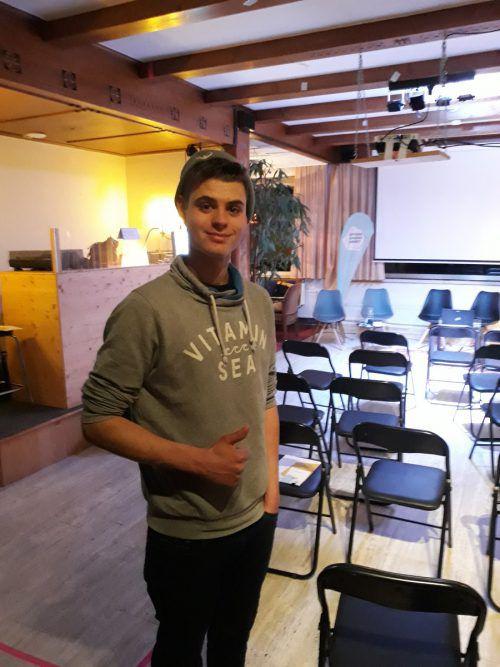 Christian, 19 Jahre; Team: Langenegg. Koje