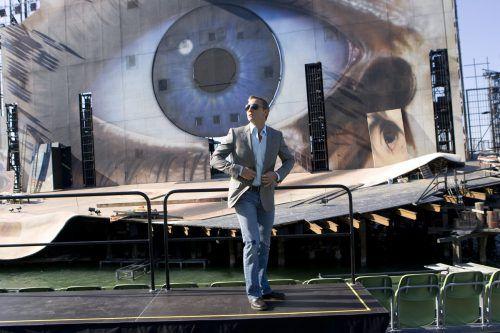 """Daniel Craig schlüpfte für """"Ein Quantum Trost"""" 2008 erneut in die Rolle des Geheimagenten Ihrer Majestät. Ein Teil des Films wurde auf der Bregenzer Festspielbühne gedreht.Vn/KH"""