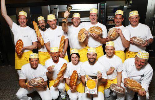 Das Bäckerei Ruetz-Team freut sich riesig über den Gesamtsieg beim internationalen Brotwettbewerb. ruetz