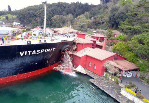 Das Schiff ließ sich wegen technischer Schwierigkeiten nicht mehr steuern.RTS