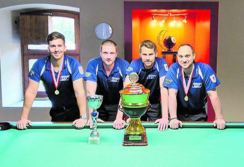 Das Siegerteam des CAP Hörbranz (v l.): Thomas Knittel, Andreas Österle, Dominik Ostermann und Marcel Kosta.Verein
