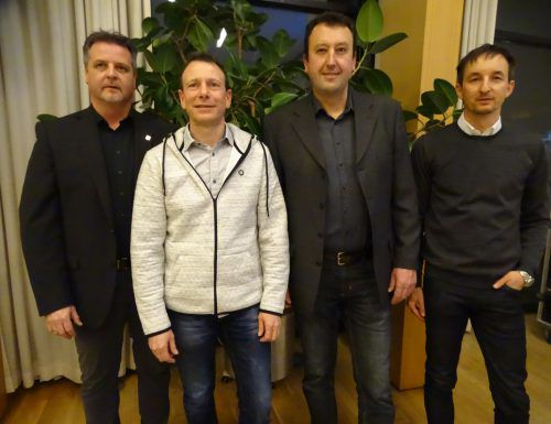 Der Fischereivereinsvorstand: Wolfgang Jaud (v.l.), Peter Schweizer, Gerd Rüdisser und René Schreiber.tf