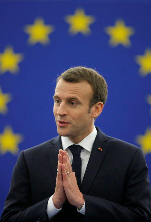 Der französische Staatschef sprach vor den Abgeordneten in Straßburg. reuters