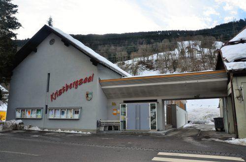 Der Kristbergsaal wird um Lagerräume und ein öffentliches WC erweitert. Dob