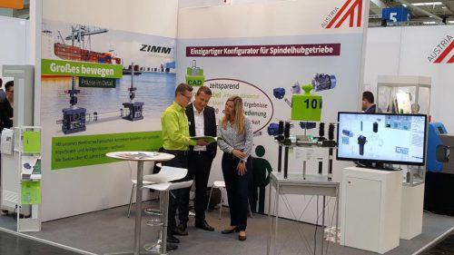 Der Lustenauer Maschinenelemente-Spezialist Zimm stellt in Hannover der Fachwelt eine neue Produktlinie vor.Firma