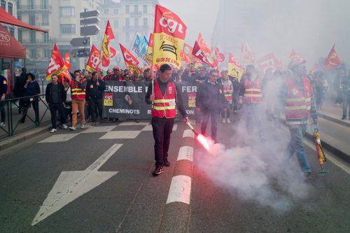 Der Streik legte amMontag erneut weite Teile des Zugverkehrs in Frankreich lahm.