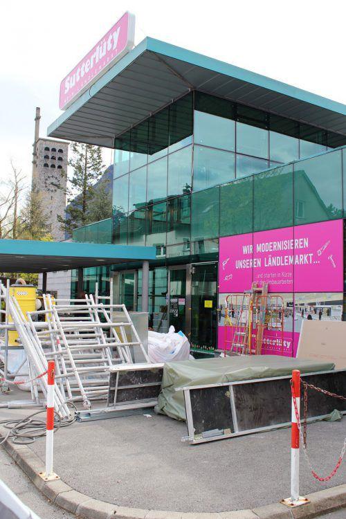 Der Sutterlütymarkt in Bludenz befindet sich aktuell im Umbau. VN/js