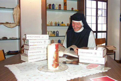 Die Äbtissin des Klosters Mariastern-Gwiggen gibt Einblicke in andere Gedankenwelten. VN/ARchiv